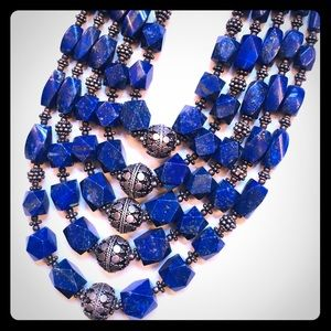 Jewelry - Lapis lazuli sterling silver necklace